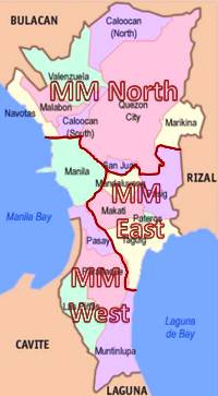 Zones of Pest Control Operations in Metro Manila