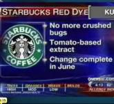 Starbucks cochineal dye news