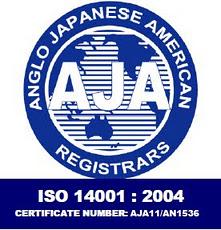 ISO 14001 Bio-Tech Environmental Certificate from AJA