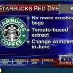 Starbucks cochineal dye news