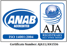 Bio-Tech Environmental ISO 14001 Certificate from AJA