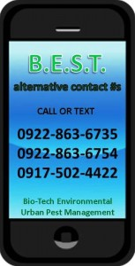 Bio-Tech Pest Control Philippines Alternative contact numbers